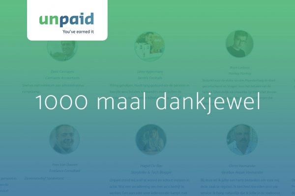 1000 klanten unpaid