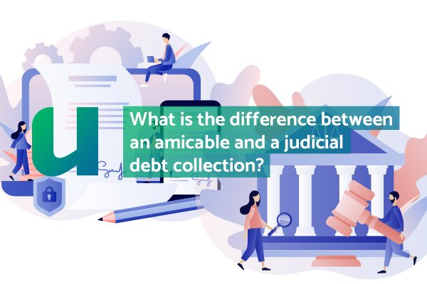 What is the difference between an amicable and a judicial debt collection?