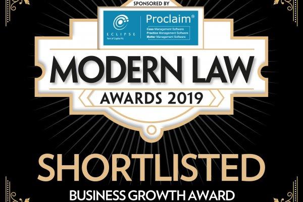 Unpaid genomineerd voor Modern Law Awards