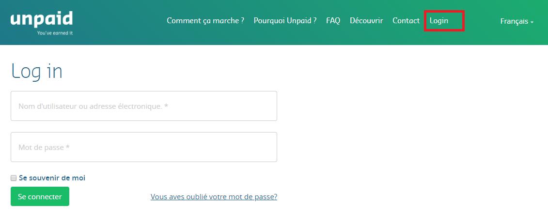 Exact-Unpaid-login-fr